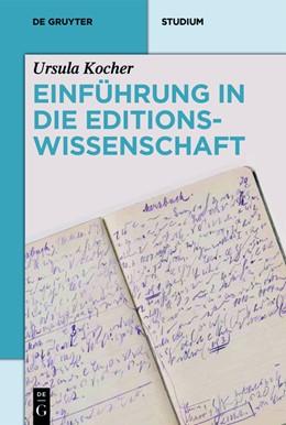 Abbildung von Kocher | Einführung in die Editionswissenschaft | 1. Auflage | 2021 | beck-shop.de