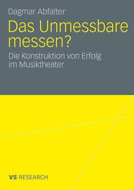 Das Unmessbare messen? | Abfalter, 2009 | Buch (Cover)