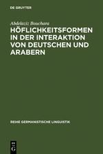 Höflichkeitsformen in der Interaktion von Deutschen und Arabern | Bouchara | Reprint 2011, 2002 | Buch (Cover)