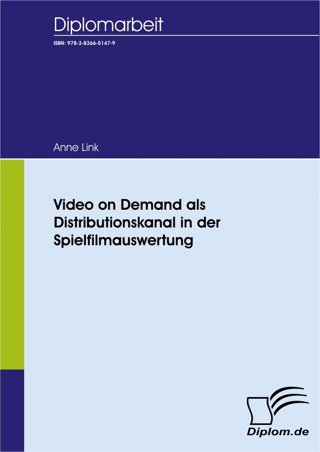 Video on Demand als Distributionskanal in der Spielfilmauswertung | Link, 2007 | Buch (Cover)