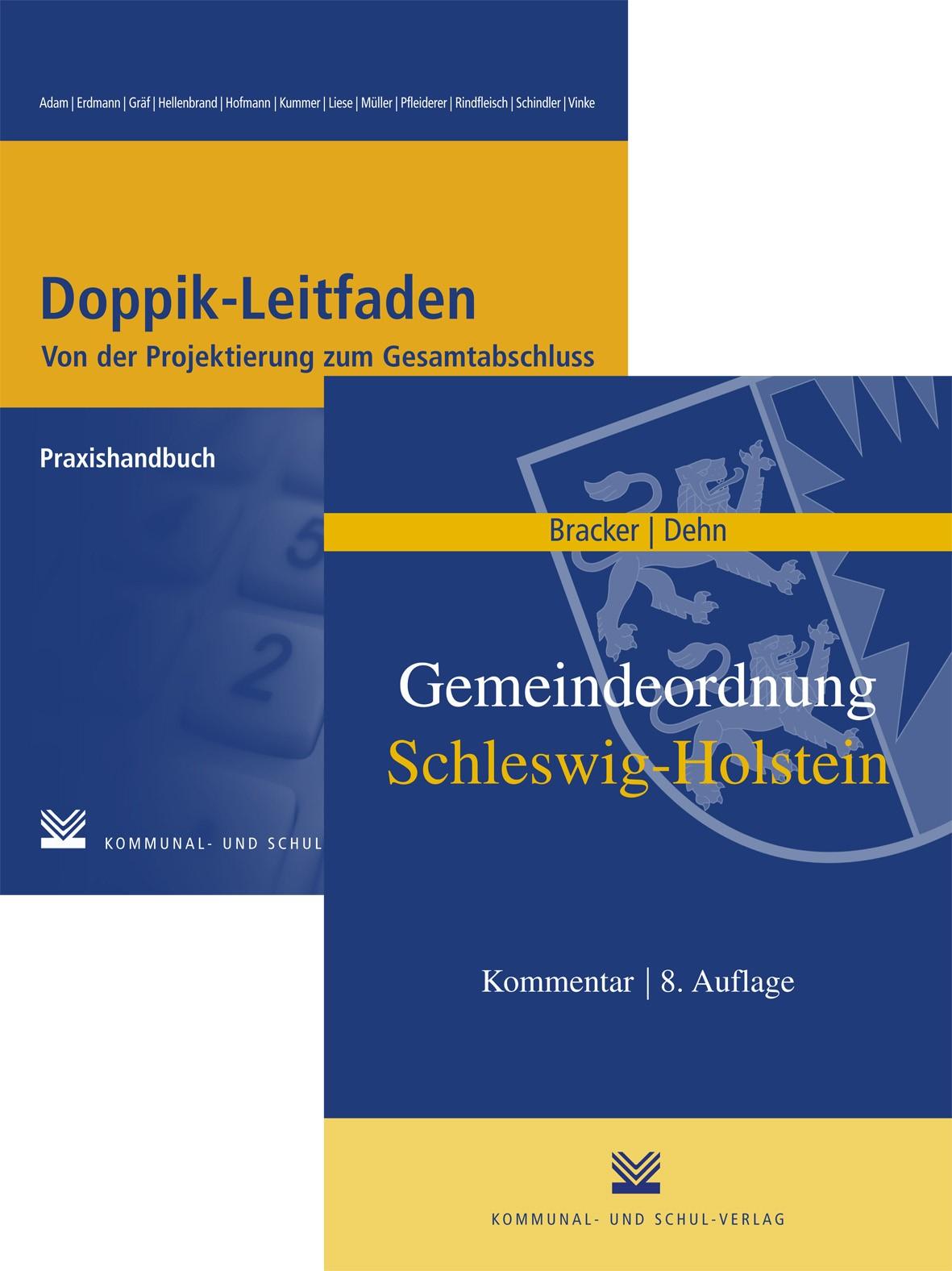 """Kombi-Pack """"Gemeindeordnung Schleswig-Holstein"""" und """"Doppik-Leitfaden""""   Bracker / Dehn / Erdmann, 2010   Buch (Cover)"""