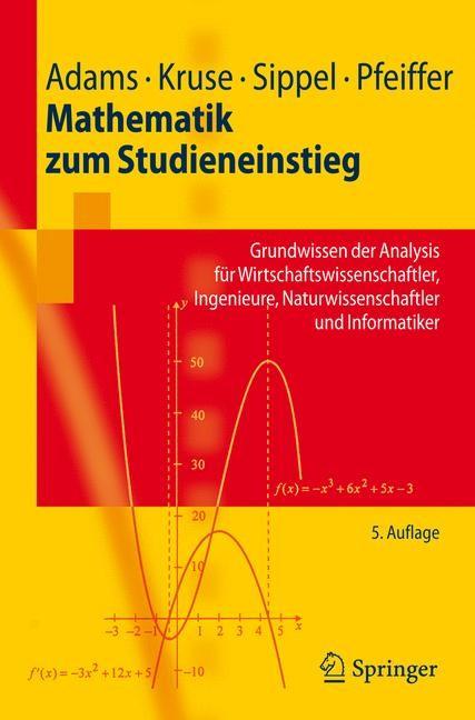 Mathematik zum Studieneinstieg | Adams / Kruse / Sippel | 5., verb. Aufl., 2008 | Buch (Cover)