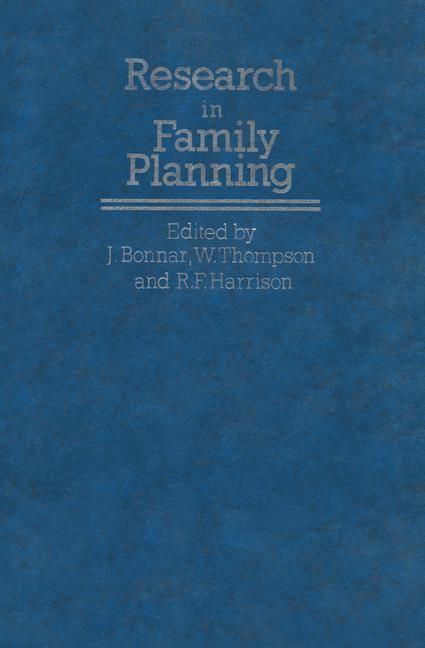 Abbildung von Bonnar / Harrison / Thompson | Research in Family Planning | 1984