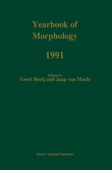 Abbildung von Booij / van Marle | Yearbook of Morphology 1991 | 1991