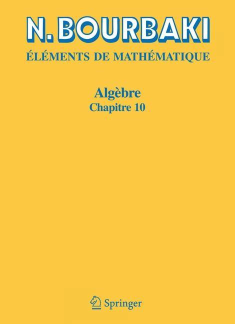 Algèbre | Bourbaki | Réimpression inchangée de l'édition de 1980., 2006 | Buch (Cover)