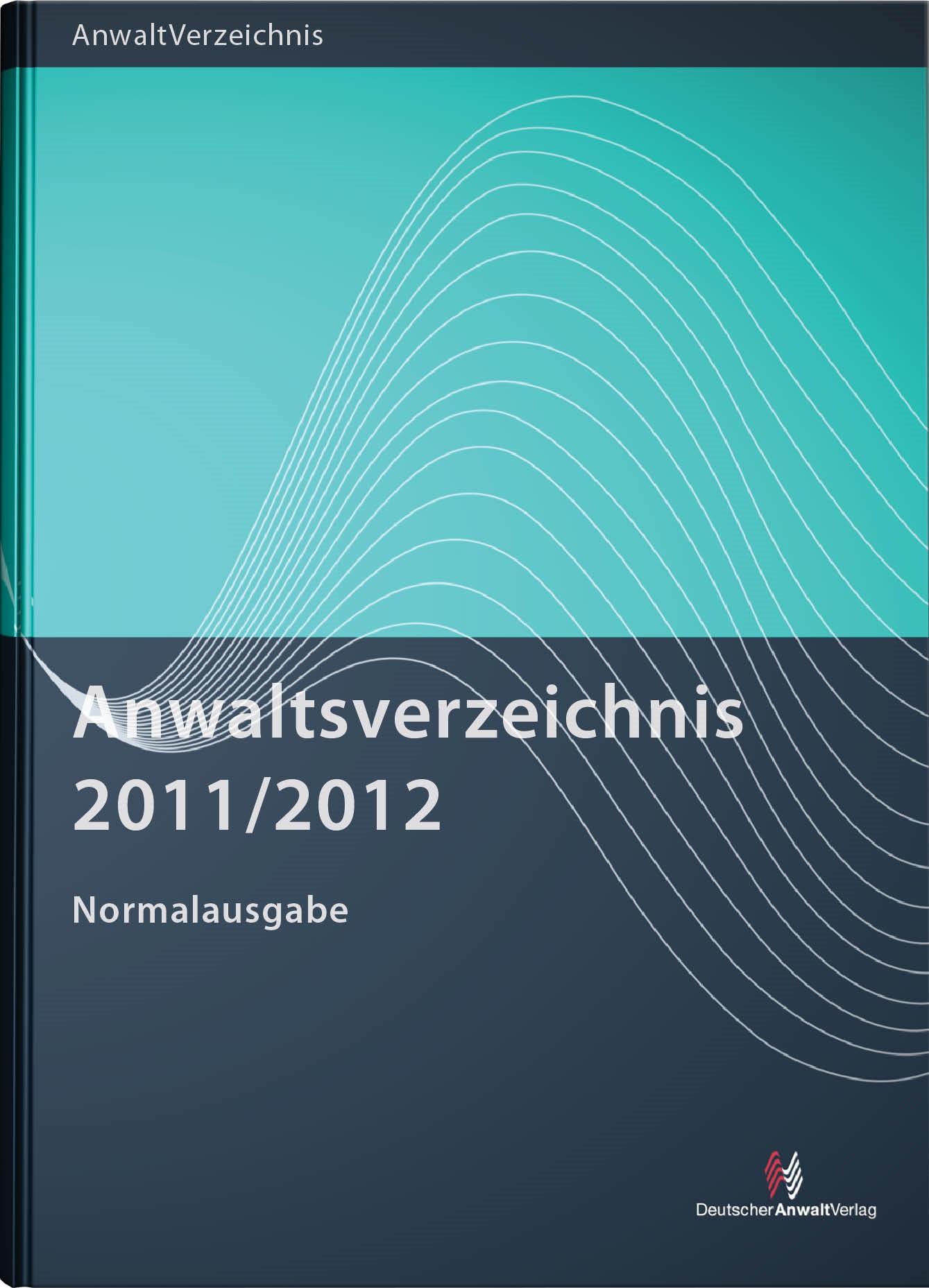 Anwaltsverzeichnis 2011/2012, 2011   Buch (Cover)
