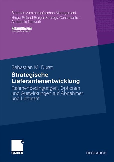 Strategische Lieferantenentwicklung | Durst | Mit einem Geleitwort von Prof. Dr. Eric Sucky, 2010 | Buch (Cover)