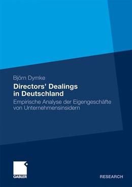 Abbildung von Dymke | Directors' Dealings in Deutschland | 2011 | 2010 | Empirische Analyse der Eigenge...