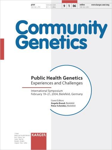 Public Health Genetics | Brand / Schröder, 2006 | Buch (Cover)