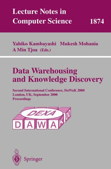 Data Warehousing and Knowledge Discovery | Kambayashi / Mohania / Tjoa, 2000 | Buch (Cover)
