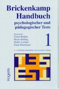 Brickenkamp Handbuch psychologischer und pädagogischer Tests | Braehler / Holling / Leutner, 2002 | Buch (Cover)