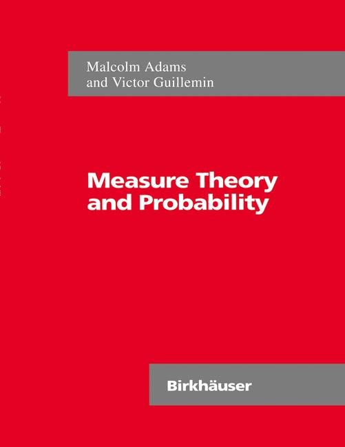 Measure Theory and Probability | Adams / Guillemin, 1996 | Buch (Cover)