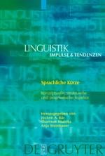 Sprachliche Kürze | Bär / Roelcke / Steinhauer, 2007 | Buch (Cover)