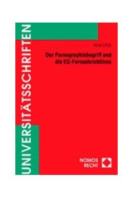 Abbildung von Der Pornographiebegriff und die EG-Fernsehrichtlinie   2000   352