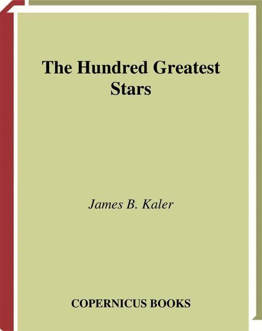 The Hundred Greatest Stars | Kaler, 2002 | Buch (Cover)