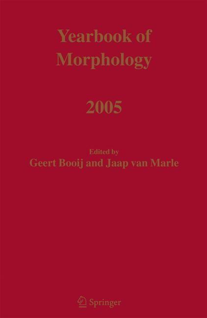 Abbildung von Booij / Marle   Yearbook of Morphology 2005   2006