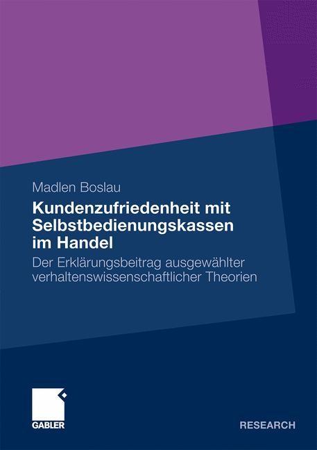 Kundenzufriedenheit mit Selbstbedienungskassen im Handel | Boslau, 2009 | Buch (Cover)