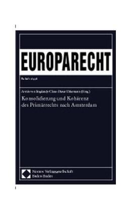 Abbildung von Bogdandy / Ehlermann | Konsolidierung und Kohärenz des Primärrechts nach Amsterdam | 1998 | Europarecht, Beiheft 2/1998