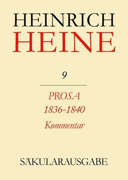 Abbildung von Mende / Stöcker   Prosa 1836-1840. Kommentar   1994