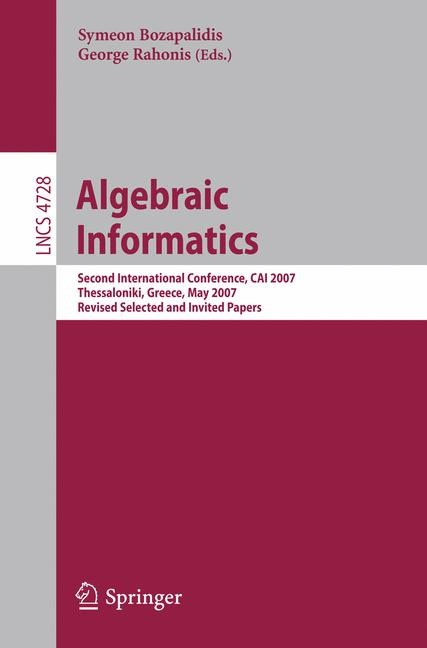 Algebraic Informatics | Bozapalidis / Rahonis, 2007 | Buch (Cover)