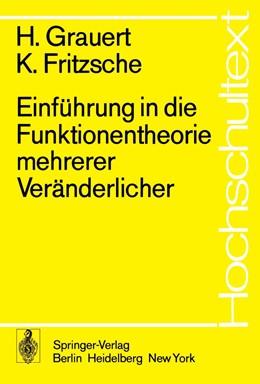 Abbildung von Grauert / Fritzsche | Einführung in die Funktionentheorie mehrerer Veränderlicher | 1. Auflage | 1974 | beck-shop.de