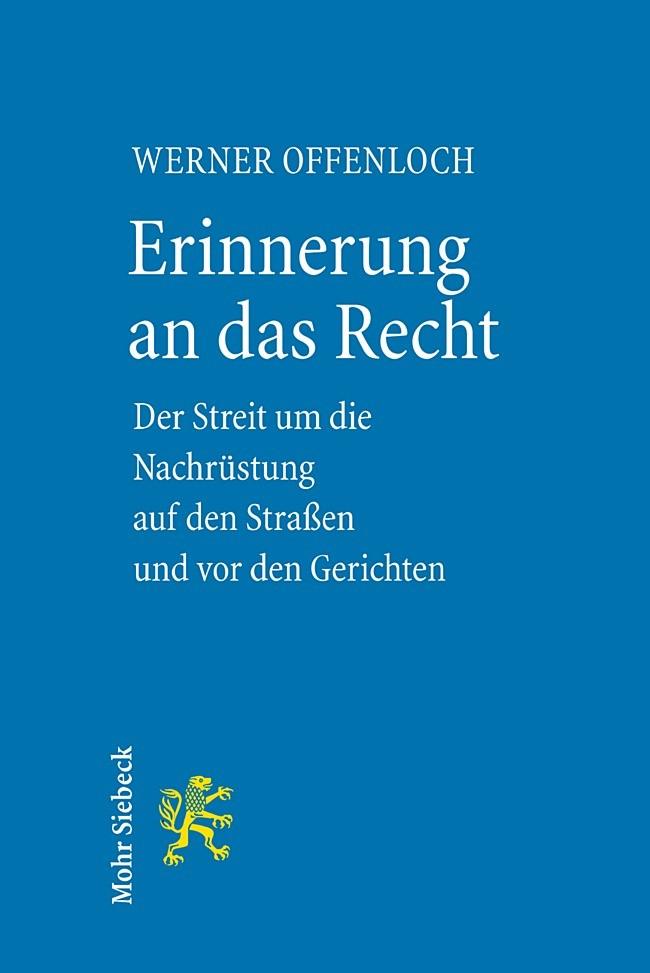 Erinnerung an das Recht | Offenloch, 2005 | Buch (Cover)