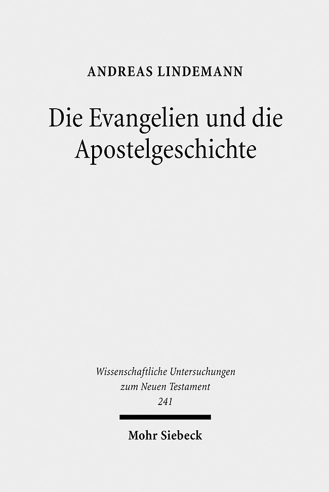 Die Evangelien und die Apostelgeschichte   Lindemann, 2009   Buch (Cover)
