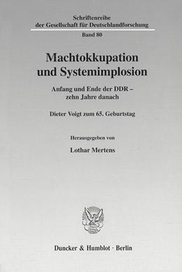 Abbildung von Mertens | Machtokkupation und Systemimplosion. | 2001 | Anfang und Ende der DDR - zehn... | 80
