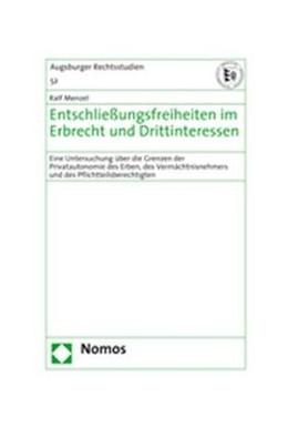 Abbildung von Menzel | Entschließungsfreiheiten im Erbrecht und Drittinteressen | 2008 | Eine Untersuchung über die Gre...