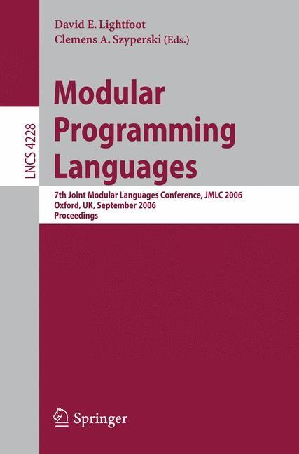 Modular Programming Languages | Lightfoot / Szyperski, 2006 | Buch (Cover)
