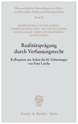 Abbildung von Realitätsprägung durch Verfassungsrecht. | 1. Auflage | 2008 | 50 | beck-shop.de