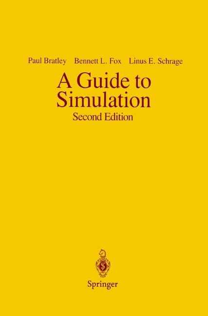 A Guide to Simulation | Bratley / Fox / Schrage, 1987 | Buch (Cover)