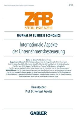 Abbildung von Krawitz | Internationale Aspekte der Unternehmensbesteuerung | 2010