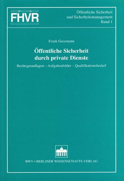 Abbildung von Gesemann | Öffentliche Sicherheit durch private Dienste | 2003