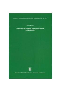 Abbildung von Krause | Umweltgerechte Produkte der Feinwerktechnik und Elektronik | 2002