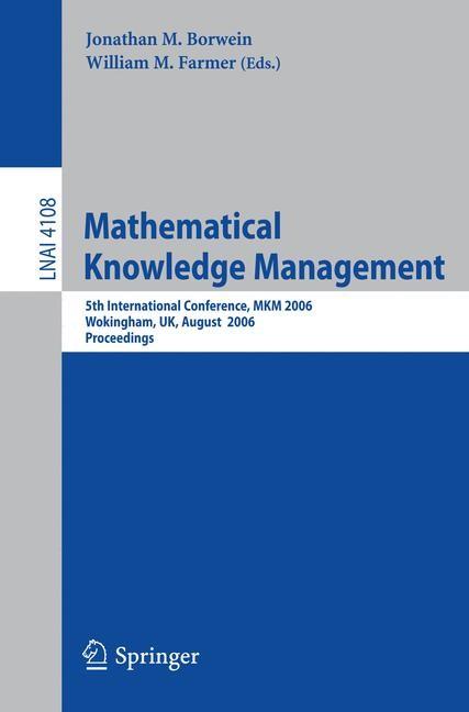 Mathematical Knowledge Management | Borwein / Farmer, 2006 | Buch (Cover)