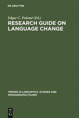 Abbildung von Polomé | Research Guide on Language Change | 1990 | 1990 | 48