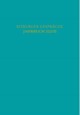 """Abbildung von Bitburger Gespräche: Jahrbuch 2002/II   2003   """"Der entschlüsselte Mensch..."""