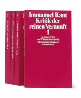 Abbildung von Kant / Weischedel | Die Kritiken | 1995 | Kritik der reinen Vernunft. Kr...