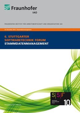 Abbildung von / Spath / Weisbecker / Falkner | Stammdatenmanagement | 2010 | Tagungsband des Stuttgart Soft...