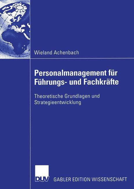 Abbildung von Achenbach | Personalmanagement für Führungs- und Fachkräfte | 2003