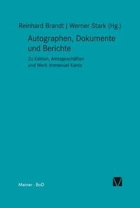 Autographen, Dokumente und Berichte | Brandt / Stark, 1994 | Buch (Cover)