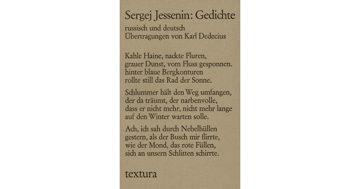 Gedichte Jessenin Sergej Broschur