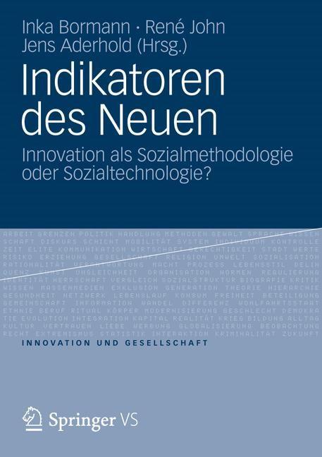 Indikatoren des Neuen | Bormann / John / Aderhold, 2012 | Buch (Cover)