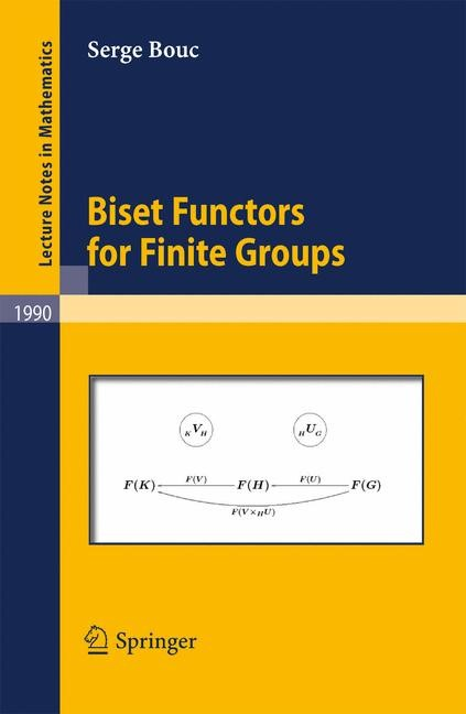 Biset Functors for Finite Groups | Bouc, 2010 | Buch (Cover)