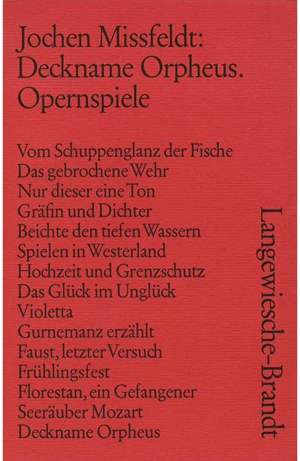 Cover: Jochen Missfeldt, Deckname Orpheus