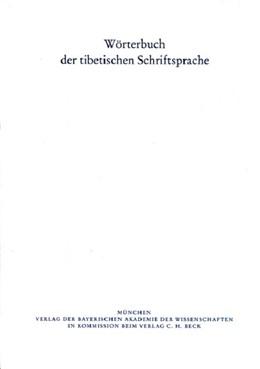 Abbildung von Wörterbuch der tibetischen Schriftsprache 09. Lieferung | 1. Auflage | 2010 | Lieferung 9. | beck-shop.de