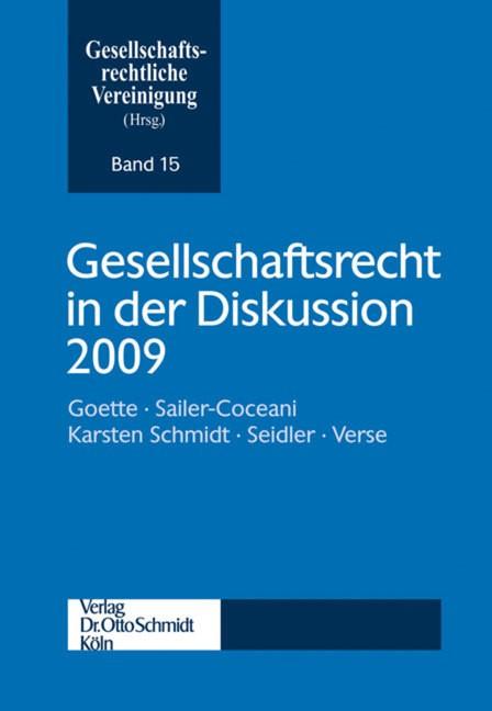 Abbildung von Gesellschaftsrechtliche Vereinigung | Gesellschaftsrecht in der Diskussion 2009 | 2010