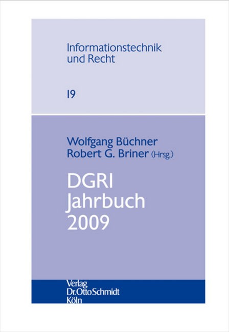 DGRI Jahrbuch 2009 | Büchner / Briner | 1. Auflage 2010, 2010 | Buch (Cover)