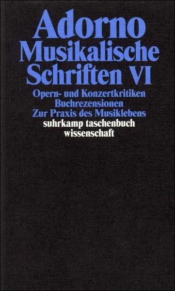 Abbildung von Adorno   Gesammelte Schriften in 20 Bänden   2003